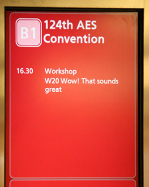 AES workshop - WOW, THIS SOUNDS GREAT!